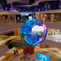 Magic Show 3D Spherical Led Display 360 Degree Led Video Sphere For Museum