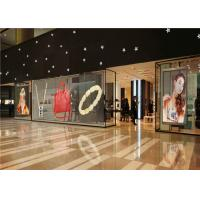 Quality Ultra Thin P10 Transparent Glass LED Display Mesh With 75% Transparency for sale