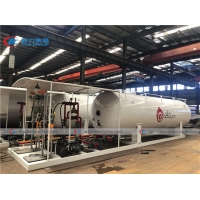 Buy 5t 10t 10000l 20000L 10mt Lpg Skid Tank Cylinder Refilling at wholesale prices