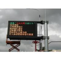Quality P6.25 Outdoor Traffic LED Display Road Side Information LED Board for sale